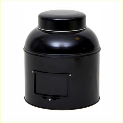 Rond theeblik zwart groot- 2000 gram