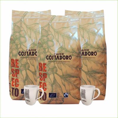Actiepakket Biologische Koffiebonen + Gratis Servies