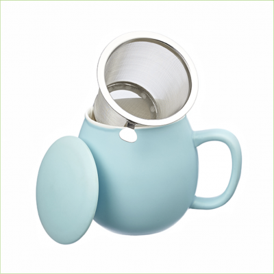 Theemok lichtblauw + filter -