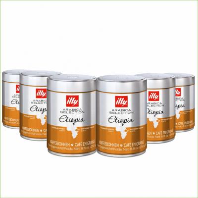 Illy ethiopie 250 gram koffiebonen 6 stuks -
