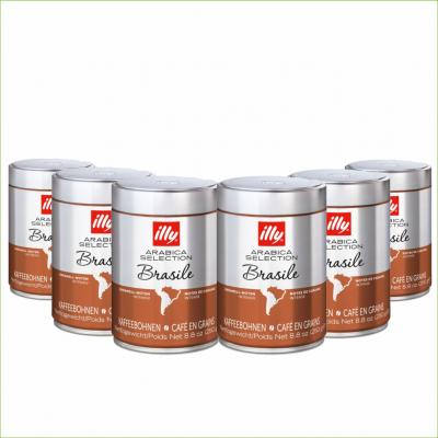 Illy Brasil 250 gram koffiebonen 6 stuks -