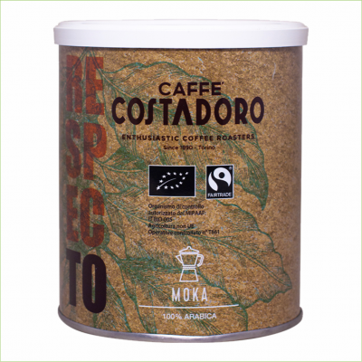 Costadoro Biologisch & Fairtrade 250 gram Filter Moka -