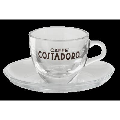 Costadoro espresso kop en schotel glas