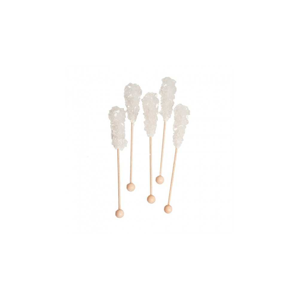 Kandij suikersticks wit luxe 10 stuks -