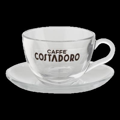 Set van 2 cappuccino kop en...