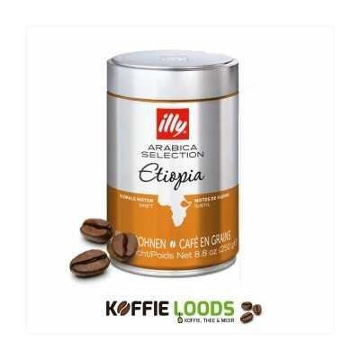 Illy ethiopie 250 gram koffiebonen 12 stuks -